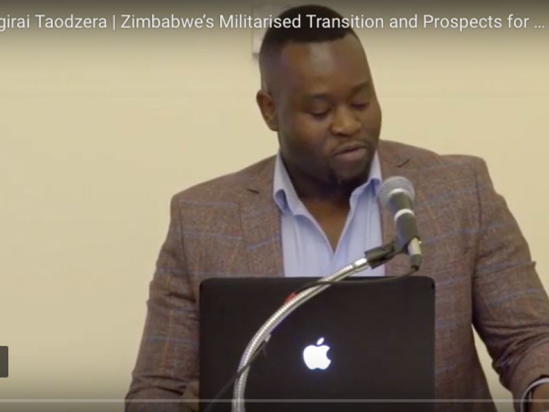 The Rooster Falls and The Crocodile Rises:  Zimbabwe's Militarised Transition and Prospects for the Future